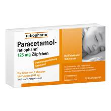 Paracetamol ratiopharm 125 mg Sgl.-Suppositorien
