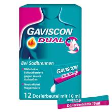 Gaviscon Dual 500mg / 213mg / 325mg Suspension im Beutel