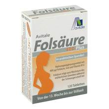 Folsäure 400 Plus B12 + Jod Tabletten