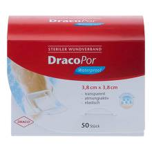 Dracopor waterproof Wundverband 3,8x3,8 cm steril