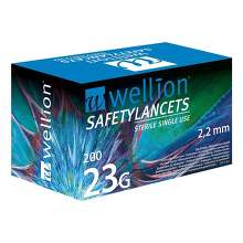 Wellion Safetylancets 23 G Sicherheitseinmallanz.