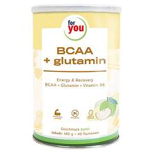For You Bcca + glutamin Energy & Recovery Apfel Pulver
