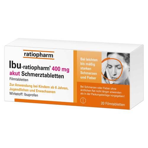 Ibu Ratiopharm 400 mg akut Schmerztbl. Filmtabletten