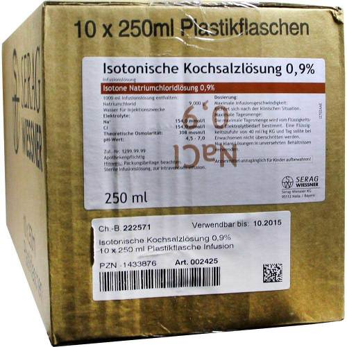 Kochsalzlösung 0,9% Plastikflaschen