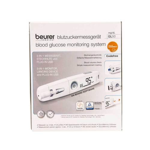 Beurer GL50 mg / dl Blutzuckermessgerät weiß
