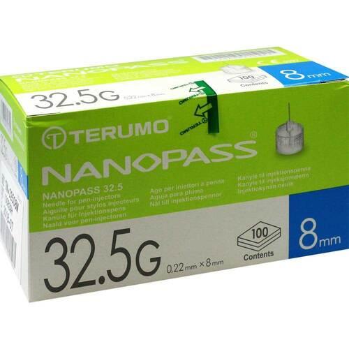 Terumo Nanopass 32,5G Pen Kanüle 0,22x8mm