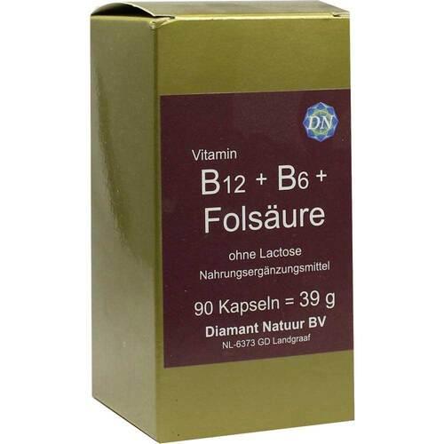 B12 + B6 + Folsäure ohne Lactose Kapseln