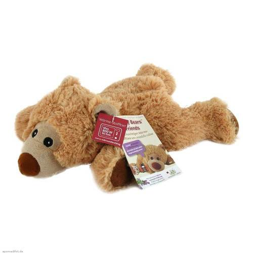 Wärme Stofftier Bär William hellbraun liegend