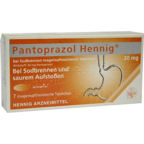 Pantoprazol Hennig b.Sodbrennen 20 mg magensaftresistent Tabletten