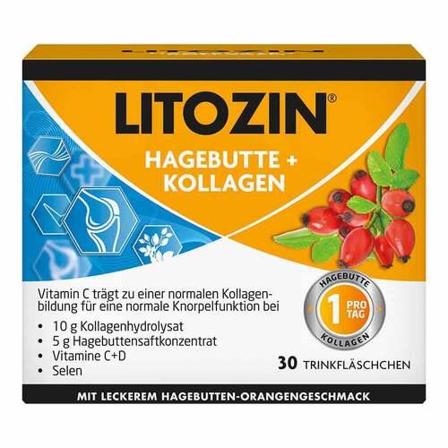 Litozin Hagebutte + Kollagen Trinkfläschchen