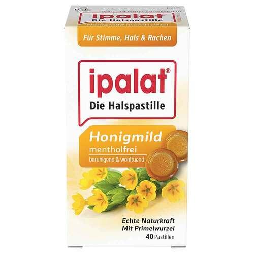 Ipalat Halspastillen honigmild ohne Menthol zuckerfrei